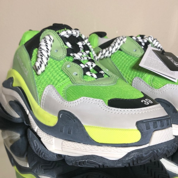 Balenciaga Triple S Lime Green Sneakers